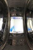 Inside washing machine royalty free stock image