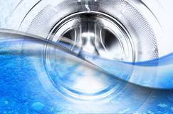 Inside of a Washing Maschine royalty free stock images
