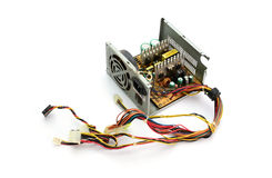 Inside of Waste Computer Power Supply Stock Photo