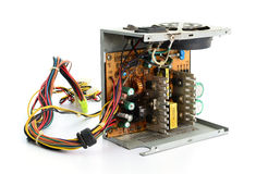 Inside of Waste Computer Power Supply Royalty Free Stock Photography
