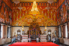 Inside Wat Hua Lamphong Thai Temple Stock Image