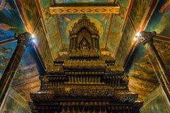 Inside the Wat Phnom temple in Phnom Penh, Cambodia Royalty Free Stock Photo