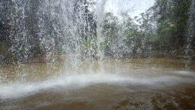Inside a waterfall. Inside of Prenn waterfall, Dalat, Vietnam Royalty Free Stock Image