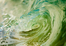 Inside a wave. Inside the barrel of a wave off NJ Stock Photo