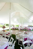 Inside a wedding tent Stock Photos