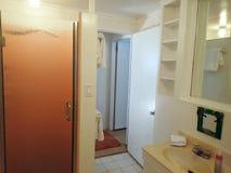 Inside White Bathroom Stock Image