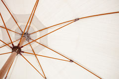 Inside of a white parasol Royalty Free Stock Image