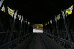 Inside Whites Covered Bridge Stock Image