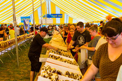 Inside the Whoopie Pie Tent Royalty Free Stock Photography