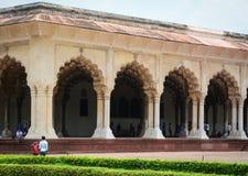 Inside widok Agra fort w Agra, India Zdjęcia Stock