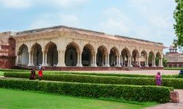 Inside widok Agra fort w Agra, India Zdjęcie Stock