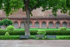 Inside widok Agra fort w Agra, India Obrazy Royalty Free