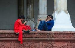 Inside widok Agra fort w Agra, India Fotografia Royalty Free