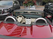 Inside widok Chrysler Crossfire kabriolet, Lima Obraz Stock