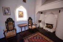 Inside widok otręby kasztel od Rumunia, także znać jako Dracula kasztel obrazy royalty free