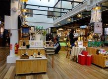 Inside widok zakupy centrum handlowe w Taipei, Tajwan zdjęcie stock
