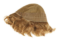 Inside of the wig on white Royalty Free Stock Photos
