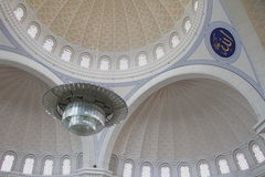 Inside Wilayah Mosque 1 Royalty Free Stock Photo