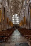 Inside the Winchester Cathedral; Vertical Shot royalty free stock image