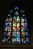 Inside window Cathedral Prague Royalty Free Stock Photos