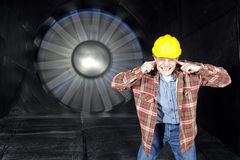 Inside a windtunnel Royalty Free Stock Image