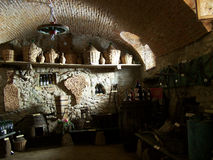 Inside of wine cellar Royalty Free Stock Photos