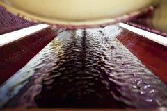 Inside a wine press stock photography