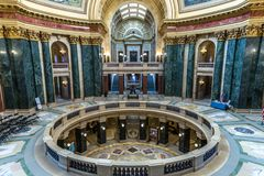 Inside Wisconsin State Capital Stock Photos