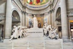 Inside, wnętrze Francuski mauzoleum dla Wielkich ludzi Francja zdjęcie royalty free