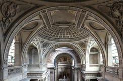 Inside, wnętrze Francuski mauzoleum dla Wielkich ludzi Francja - panteon w Paryż obraz stock