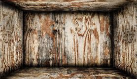 Inside wooden box Royalty Free Stock Images