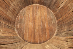 Inside of wooden wine barrel Stock Photos