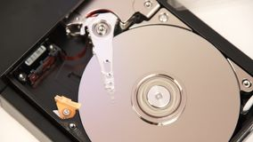 Inside working hard drive stock footage