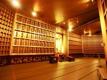 Inside of World Tallest Bronze Statue of Buddha. The statue is Ushiku Daibutsu, the tallest bronze statue of Buddha in the world, stands in Ushiku of Ibaraki royalty free stock images