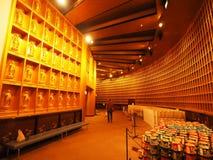 Inside of World Tallest Bronze Statue of Buddha. The statue is Ushiku Daibutsu, the tallest bronze statue of Buddha in the world, stands in Ushiku of Ibaraki stock images