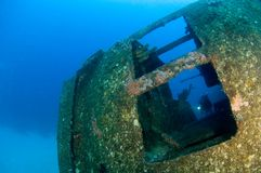 Inside wreck Hilma Royalty Free Stock Photos