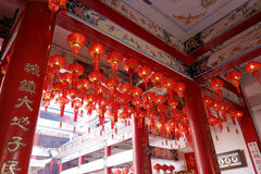 Inside of xiacheng city god temple Stock Images