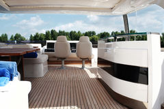 Inside the yacht Stock Images