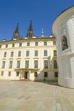 Inside yard of Castle in Prague, Czech Republic Royalty Free Stock Photo