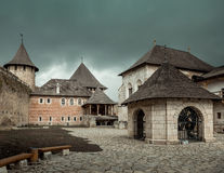 Inside yard  of Khotyn Fortress Royalty Free Stock Image