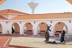 Inside yard of Ralli museum for classical art, Caesarea, Israel. Ralli Museums own the most important collection in the world of contemporary Latin-American Stock Photos