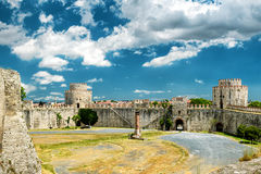 Inside the Yedikule Fortress in Istanbul Stock Images