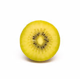 Inside of a yellow kiwi Royalty Free Stock Images