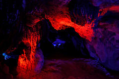 Inside of YuHua Cave, Fujian, China Stock Images