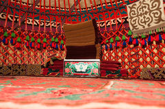 Inside of the yurt Stock Photo