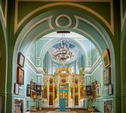 Inside of Znamenskaya church in Catherine palace, Russia stock image