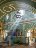 Inside of Znamenskaya church in Catherine palace, Russia stock images