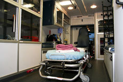 Insideof an ambulance 2 royalty free stock images