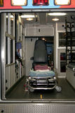 Insideof an ambulance. Photo of the inside of an ambulance Stock Images