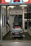 Insideof en ambulans Arkivbilder